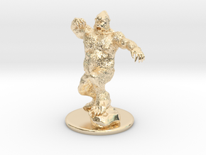 Yeti Miniature in 14k Gold Plated Brass: 1:60.96