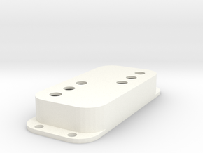 Strat PU Cover, Double, WR in White Processed Versatile Plastic