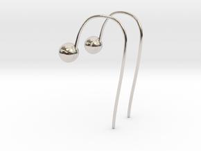 Hook Earrings in Platinum