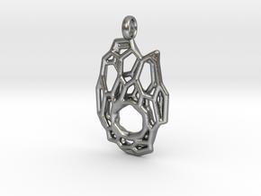 Pendant Hexa Mesh 1 in Natural Silver