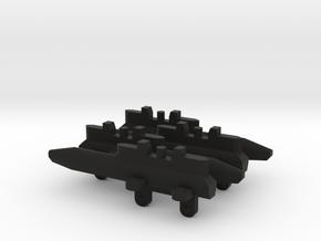 Triple Missile Pylon x4 in Black Premium Versatile Plastic