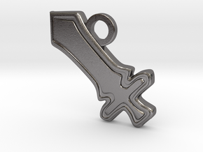 DPS Role Charm in Polished Nickel Steel