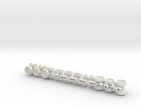 Stadtmöbelset 2 DDR 52 Teile 1:87 H0 in White Natural Versatile Plastic
