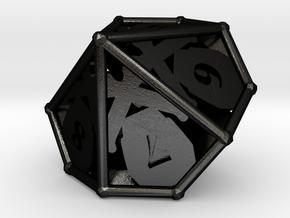 D10 Balanced - Skull and Bones in Matte Black Steel