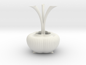 Vase 0439c in White Natural Versatile Plastic