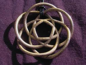 Olympic Rose Pendant in Polished Bronzed Silver Steel