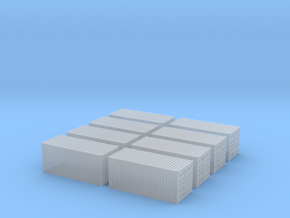 1CC container 20ft N scale (8 pieces) in Smooth Fine Detail Plastic