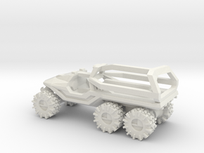 ATV 1 to 144 6x6 solid Open Top ROPS on back in White Strong & Flexible