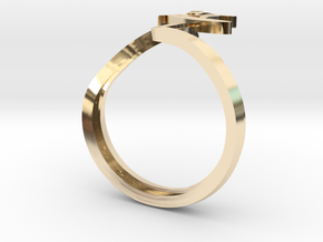 SURFER wave in 14k Gold Plated Brass: 8 / 56.75