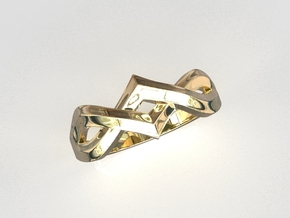 Infinity Trio Ring in 18k Gold Plated Brass: 8 / 56.75
