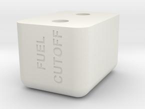 HFP-101035 Mixture Control Handle Knob in White Natural Versatile Plastic