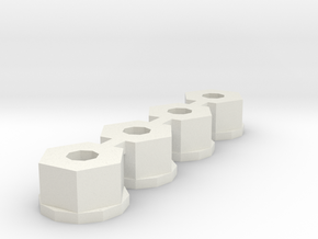 losi 10-32 nylon nut in White Natural Versatile Plastic