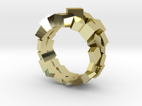 Prism Double Ring (from $15) in 18k Gold Plated: 7 / 54