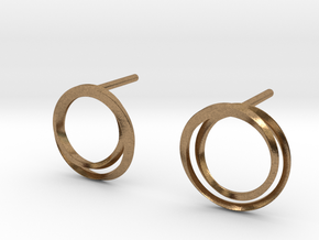 Laika earrings in Natural Brass