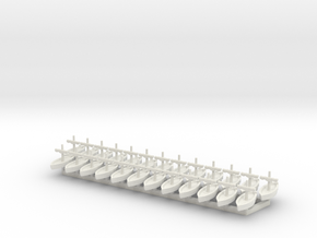 25x 1/1200 Trade Boat Game Pieces in White Natural Versatile Plastic