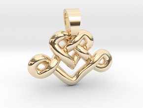 Heart knot [pendant] in 14K Yellow Gold