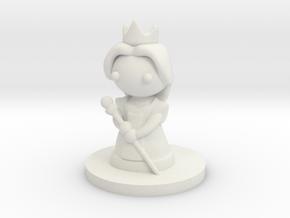 Queen (Beta) in White Natural Versatile Plastic