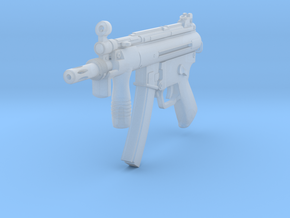 1/10th MP5K with 3 lug flash hider in Smooth Fine Detail Plastic