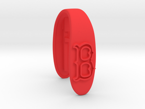 BOSTON KEY FOB  in Red Processed Versatile Plastic