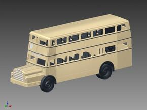 Doppelstockbus DO 54 in Spur N (1:160) in Smooth Fine Detail Plastic