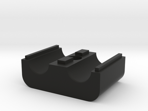 3/8 AN tubeclamp bottom raised in Black Natural Versatile Plastic