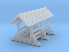 small foot bridge 4cm  roof  in Smooth Fine Detail Plastic