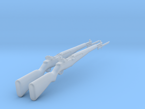 M1 Garand  with bayonet (1:18 scale) in Smooth Fine Detail Plastic: 1:18