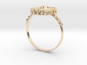 Quetzalcoatl in 14k Gold Plated Brass: 4 / 46.5