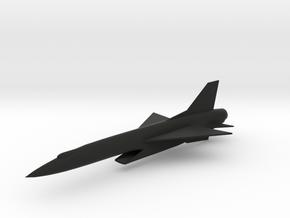 Republic F-103E Thunderwarrior Interceptor in Black Natural Versatile Plastic: 6mm