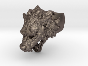 Hungry Wolf Ring in Stainless Steel: 9 / 59