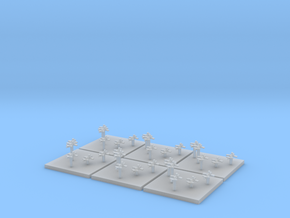Navy Fighters (6) (Tall) in Smooth Fine Detail Plastic