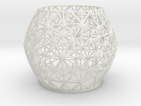 Tealight Holder Spc in White Natural Versatile Plastic