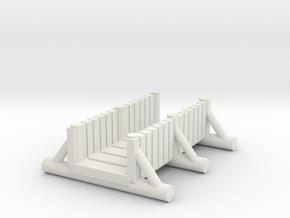 small foot bridge 4cm  planked  in White Natural Versatile Plastic