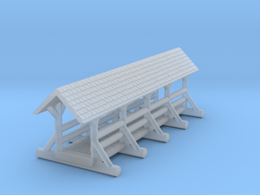 small foot bridge    roof long in Smooth Fine Detail Plastic