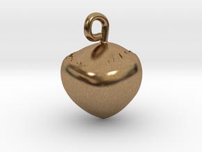 Hazelnut jewel in Natural Brass
