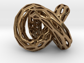 DRAGON Structura, Bold Pendant  in Natural Brass