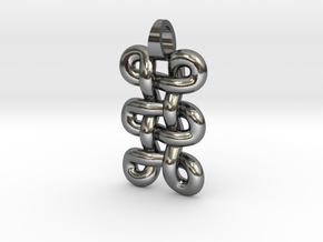 tri-knot [pendant] in Polished Silver