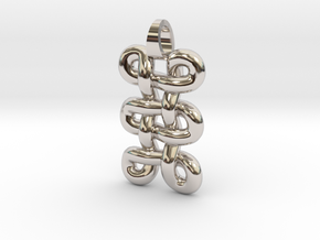 tri-knot [pendant] in Rhodium Plated Brass
