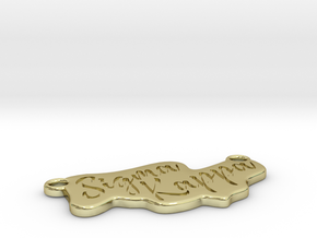 Sigma Kappa Pendant in 18k Gold Plated Brass