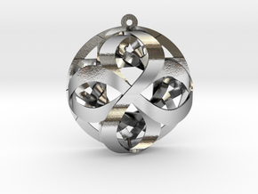 "Star of Infinity 1+"" Pendant in Polished Silver"