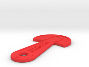 Cart Key - UNIFOR - Raised Letters in Red Processed Versatile Plastic