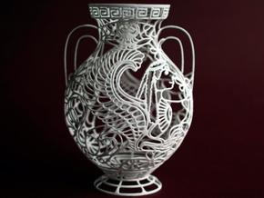 """Chimaera"" - Greek Vase Painting  in White Strong & Flexible"
