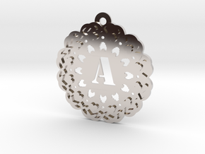 Magic Letter A Pendant in Rhodium Plated Brass