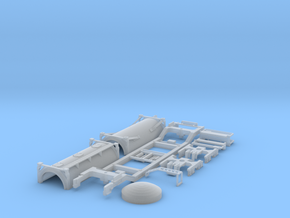 Low-floor container car w/bulk_cement in Smooth Fine Detail Plastic