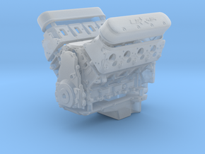 LSX 454 1/25 engine w/valley cover (V2) in Smooth Fine Detail Plastic
