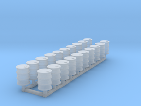 55 gal drums Z scale in Smooth Fine Detail Plastic