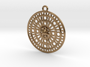 Celtic Ornament, Sanctuary of Hera, Greece (ring) in Natural Brass: Large