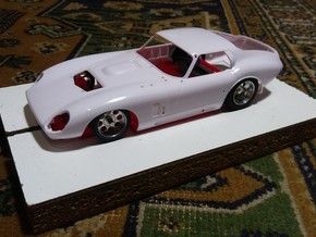 Slot car chassis for Cobra Coupe 1/28 in White Natural Versatile Plastic