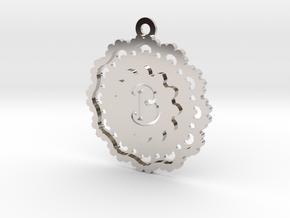 Magic Letter B Pendant in Rhodium Plated Brass