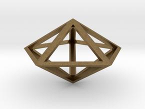 "Pentagonal Bipyramid 1"" in Natural Bronze"